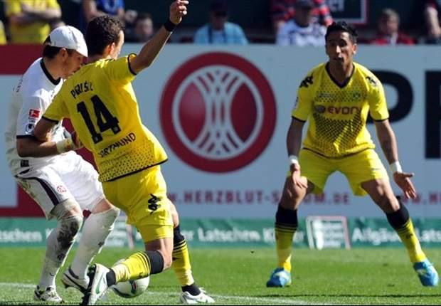 Kaiserslautern 2-5 Borussia Dortmund: Barrios nets hat-trick as champions equal Bundesliga record