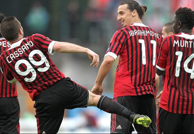 Serie A: Juve ohne Mühe, Milan gewinnt und Cassano ist zurück