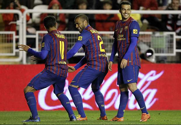 Alves and Thiago apologise for Barcelona goal celebration during win over Rayo Vallecano