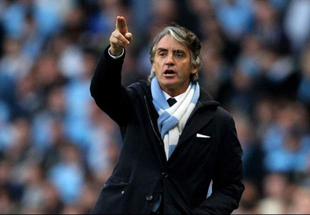 'We have two fingers on the trophy' - Mancini refusing to celebrate Manchester City title triumph just yet