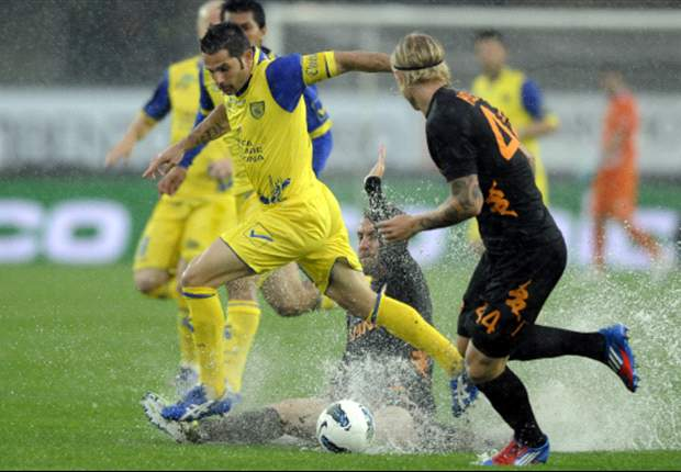 Chievo 0-0 Roma: Downpour sees uninspiring contest end in stalemate