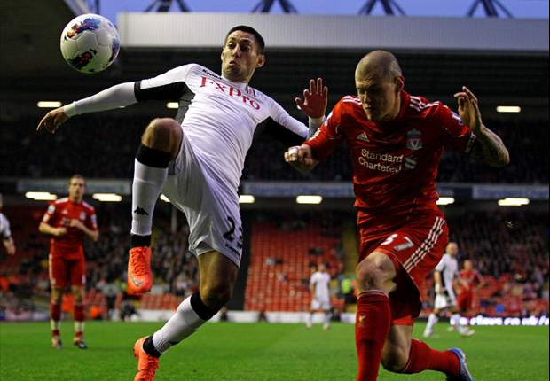 Liverpool 0-1 Fulham: Skrtel own goal condemns Reds to another Anfield defeat ahead of FA Cup final