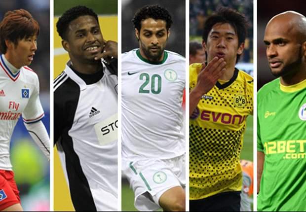 Ali Al Habsi, Shinji Kagawa, Yasser Al Qahtani & Son Heung-Min - Who should be the Asian player of the month for April?