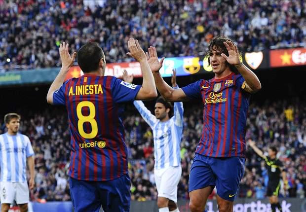 El Barcelona no ha perdido nunca con el Málaga en Copa