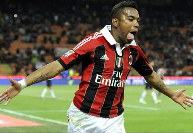 Robinho plays down Santos rumours: I'm happy at AC Milan