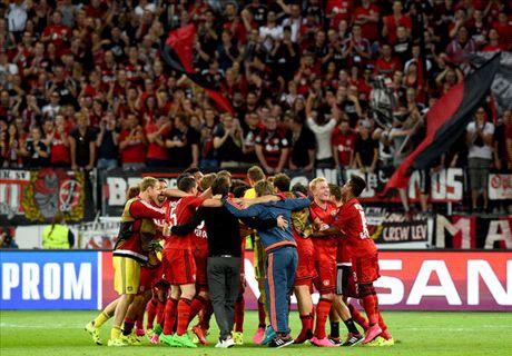 Leverkusen level 10-man Lazio