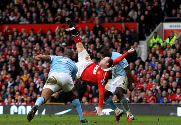 Rooney overhead kick against Manchester City named best Premier League goal in last 20 years