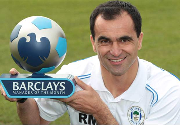 Roberto Martinez wins Barclays Manager of the Month for April