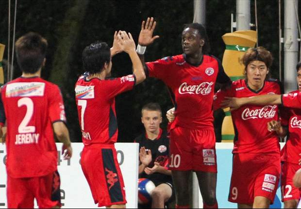 Home United 3-1 Woodlands Wellington: Frederic Mendy hat-trick sees off Rams