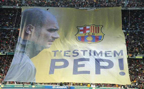 Camp Nou Tifo Pep Guardiola