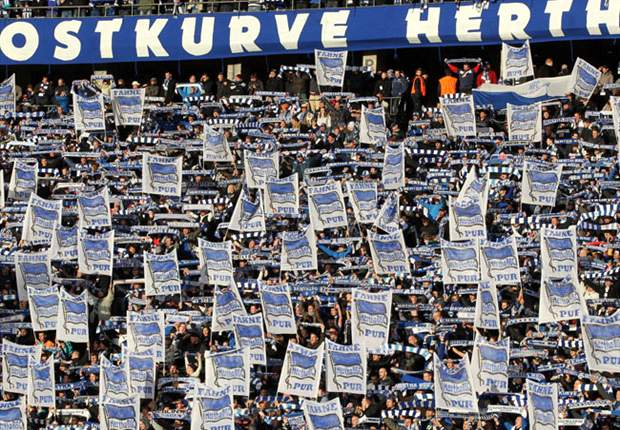 200 Hertha-Fans auf dem Weg durch Magdeburg