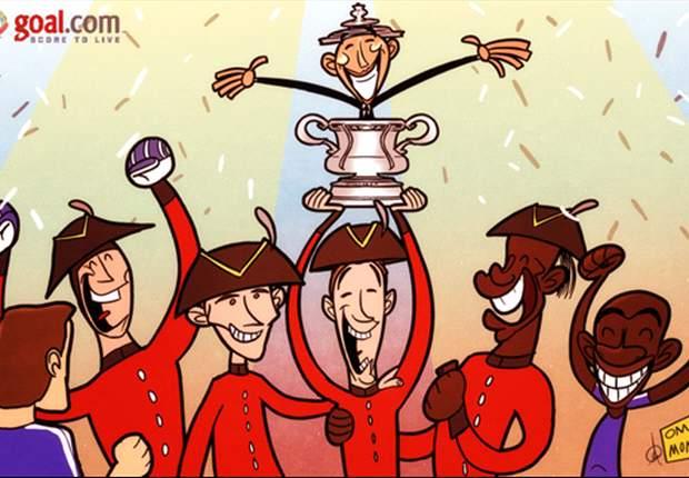 Cartoon - Les pensionnaires de Chelsea apprécient la victoire en FA Cup