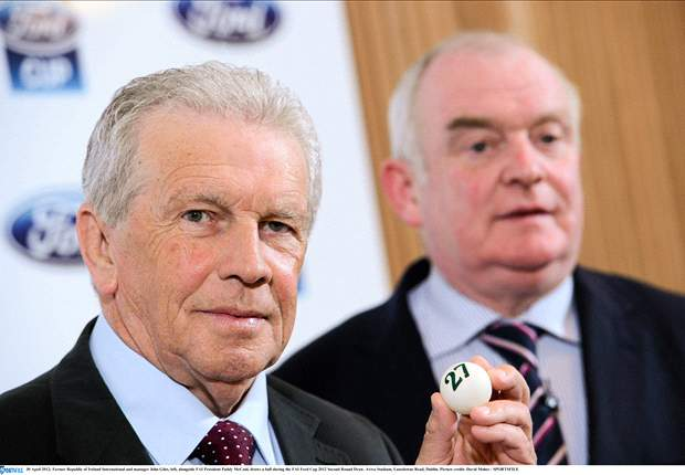 John Giles leads a team of 600 charity walkers to raise funds for grassroots football