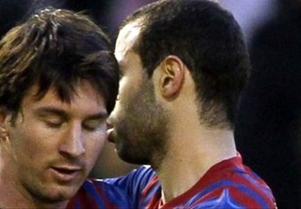 Messi denies being urged to embrace Guardiola by Mascherano in Barcelona boss' Camp Nou farewell