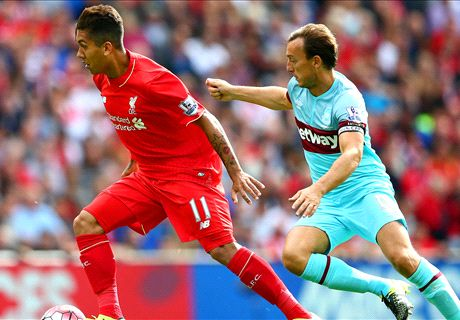LIVE: Liverpool 0-2 West Ham