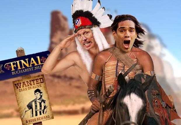Radamel Falcao y Simeone cabalgan rumbo a la gloria. ¡Titula el fotomontaje!