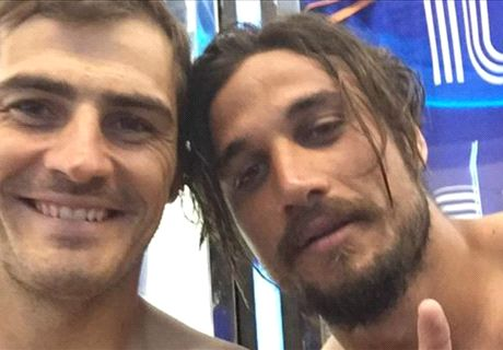 Osvaldo ya hace amigos en Porto