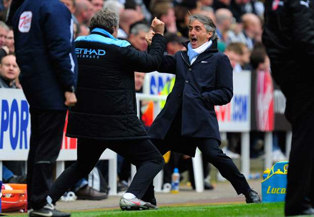 Manchester City manager Mancini hoping to better his Inter trophy haul