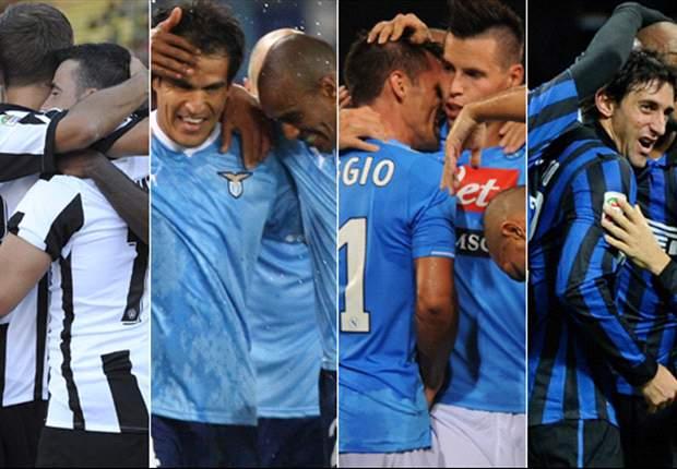 Udinese, Lazio, Nápoles e Inter ante una lucha infernal por la tercera plaza