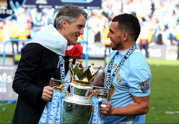Mancini insists Tevez and Dzeko will not leave Manchester City