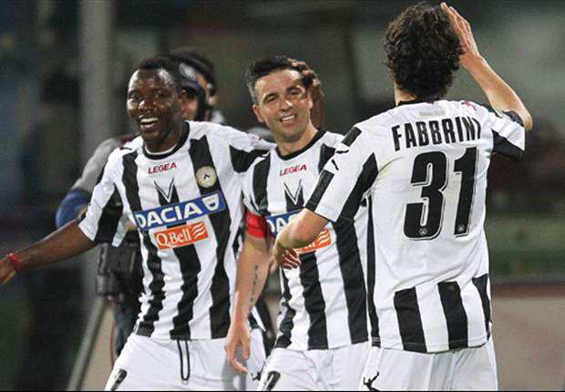 Catania 0-2 Udinese: Deadly Di Natale and another from Fabbrini clinches Champions League football for Guidolin's men