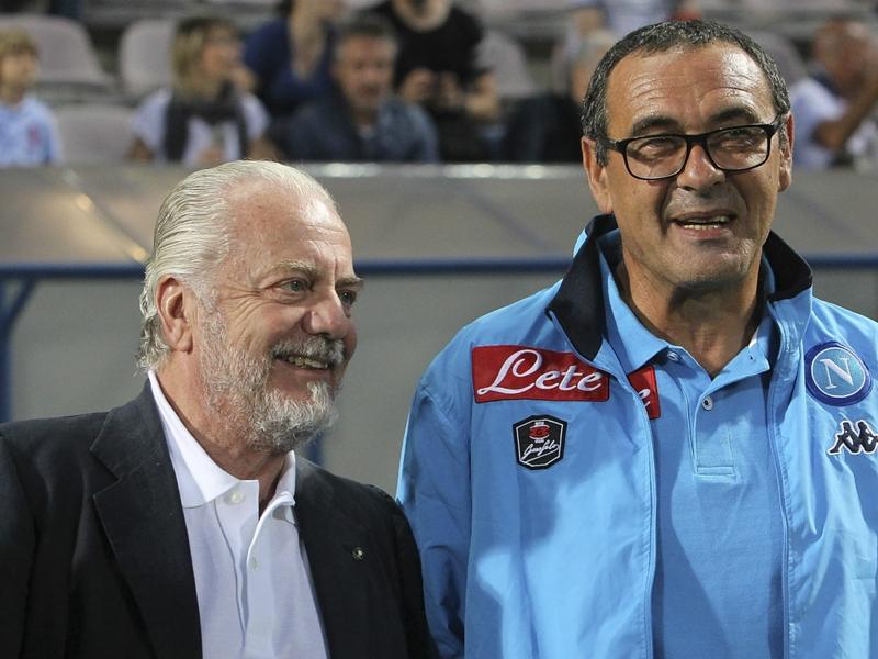 """De Laurentiis tuona contro... il Televideo! """"Bugie, con Sarri sarà percorso lungo"""""""