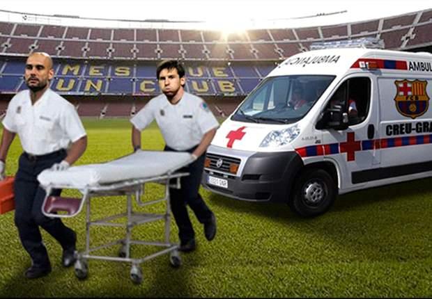 Pep Guardiola y Leo Messi se involucran con la plaga de bajas del Barcelona: El fotomontaje del día