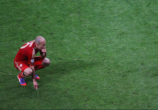 First the World Cup final, now the Champions League showpiece – Arjen Robben proves that he is a big-game choker