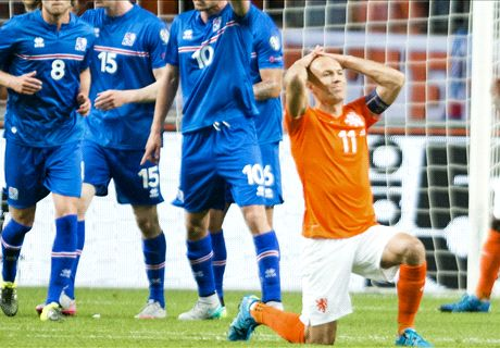 Robben injured in defeat against Iceland