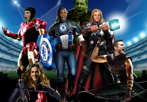 Juan Mata, Peter Cech, John Terry... Son los 'Vengadores' de Stamford Bridge. ¡El fotomontaje del día!