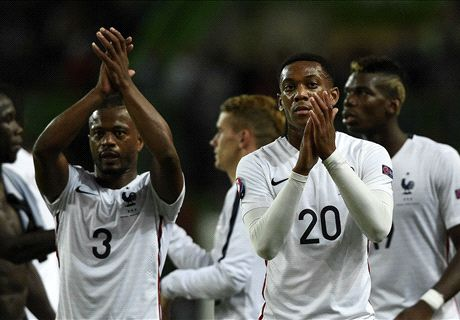 Martial victorious on France debut