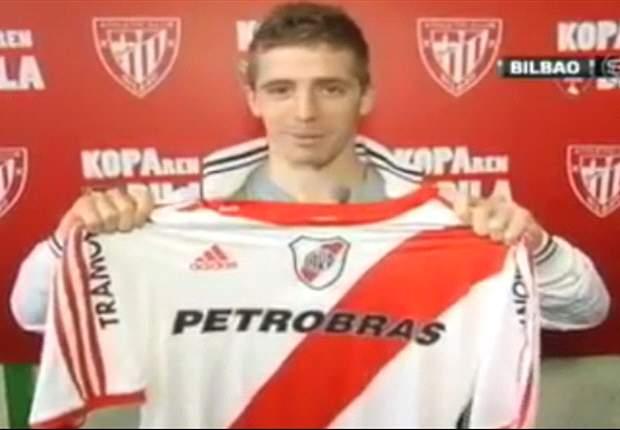 """Iker Muniaín se confiesa """"aficionado del River Plate"""" y posa con su camiseta"""