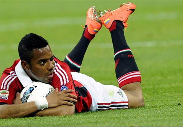 Robinho ruled out of AC Milan-Lazio clash