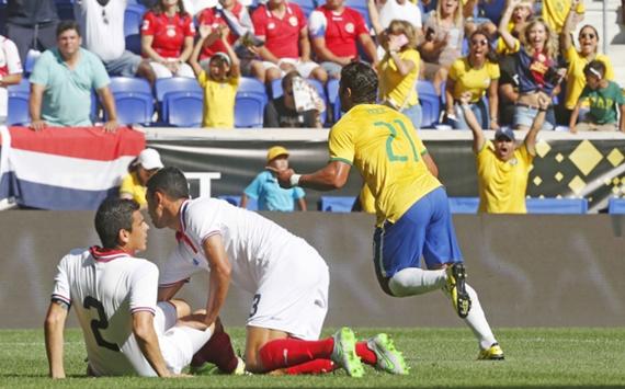 Hulk celebrates Brazil Costa Rica Friendly 05092015