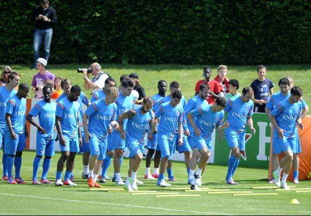 Netherlands squad open football field for locals in Krakow