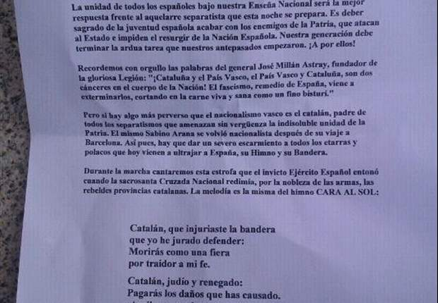 """Catalanes y vascos, el """"cáncer"""" de España para un panfleto fascista"""