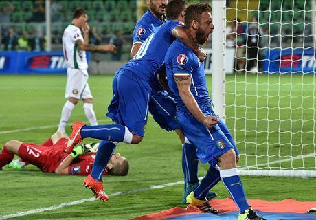 RATINGS: Italy 1-0 Bulgaria