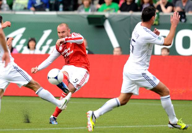 Portland Timbers 1-1 Vancouver Whitecaps: Rain-sogged match sees Scottish goal
