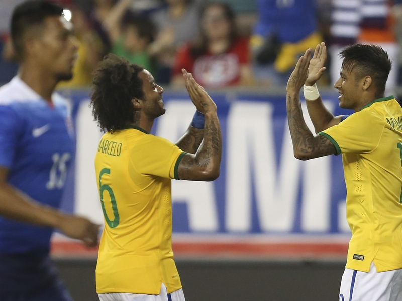 Brésil, Neymar et Marcelo font preuve d'une belle complicité en sélection