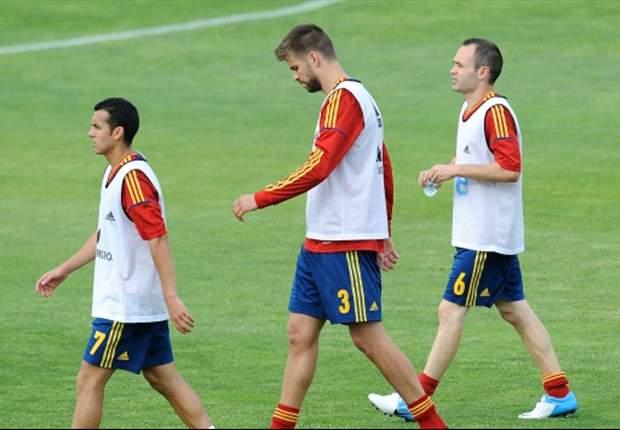 Piqué ontkent geschil met Ramos en Pep