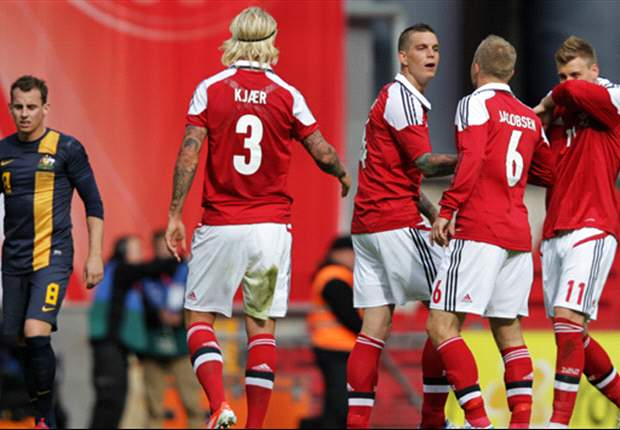 Denmark 2-0 Australia: Agger and Bjelland strike to seal morale boosting win for Danes