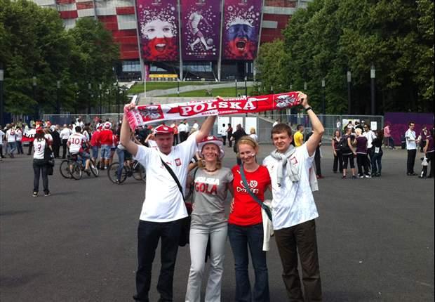 Fans Polandia.