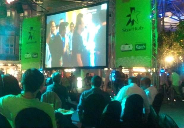 StarHub Euro 2012 launch event at Clarke Quay