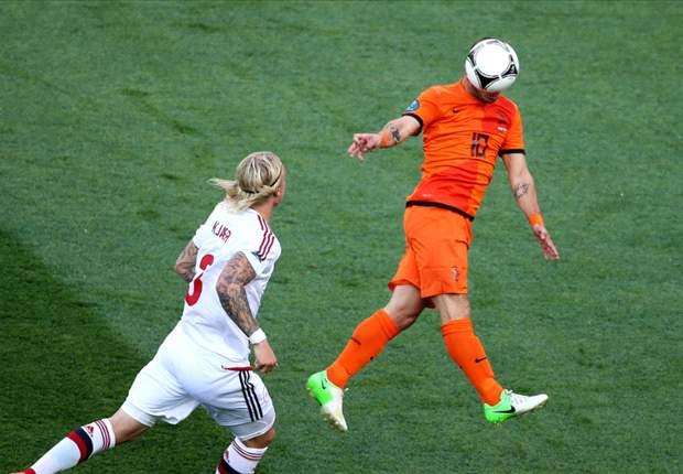 """Sneijder: """"Heb wat last van mijn knie"""""""