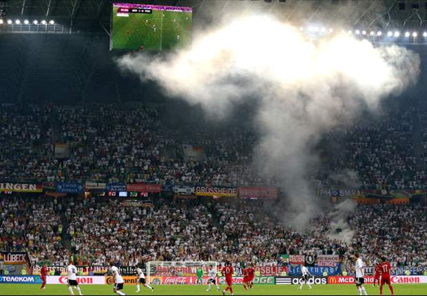 Uefa charge DFB for 'improper conduct' of fans during Denmark clash