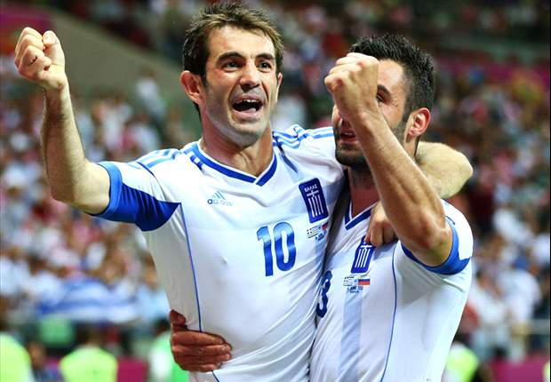 Greece goalscorer Karagounis: I hope we made the people smile