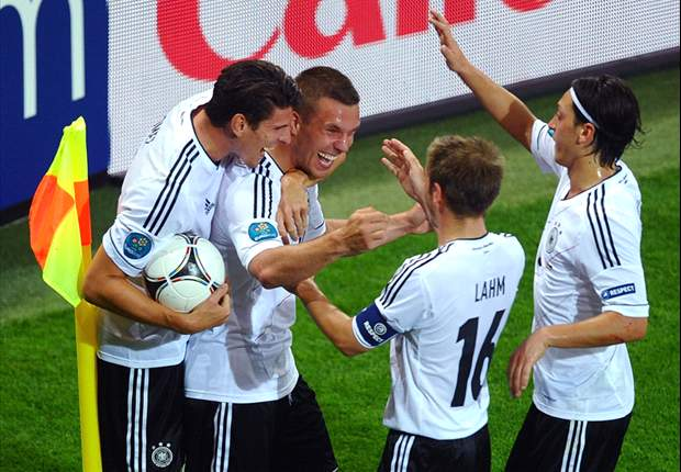 Denmark 1-2 Germany: Podolski and Bender send Olsen's men home