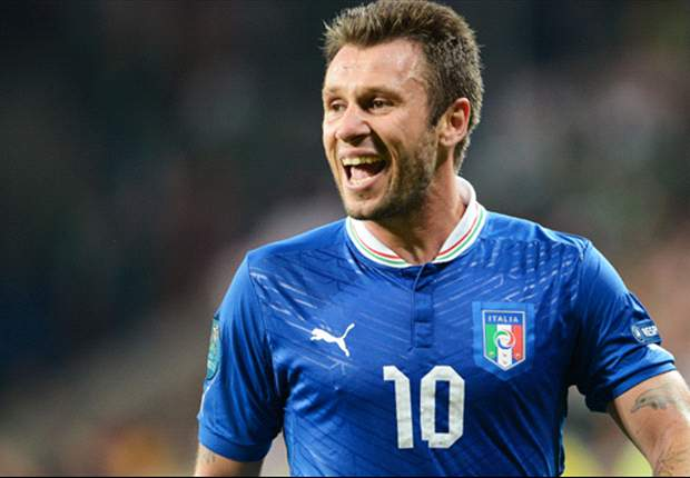 Cassano: My goal against Ireland was a dream after heart surgery