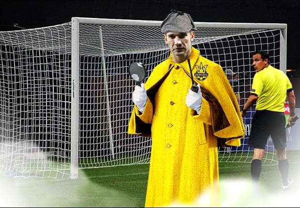 Andriy Shevchenko se convierte en Sherlock Holmes