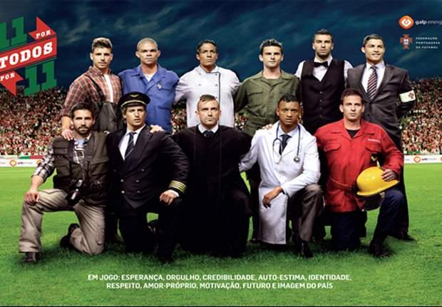 Cristiano Ronaldo de gala, Nani como doctor y Fabio Coentrao como capitán aéreo
